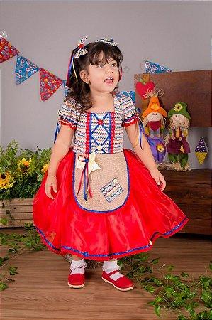 Vestido de Festa Junina Vermelho- vestidos para festa junina