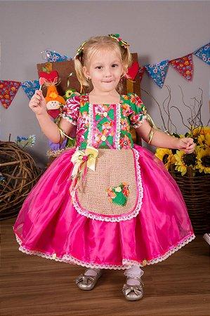 Vestido de Festa Junina Pink  - vestidos para festa junina