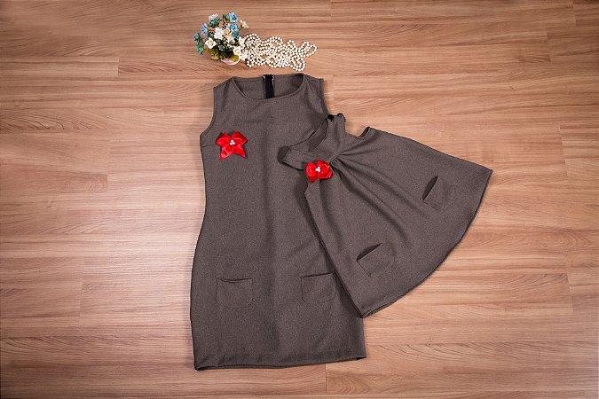 Vestido básico de lanzinha- Mãe e Filha