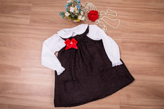 Vestido Trapézio lanzinha Com Camisa  - Infantil