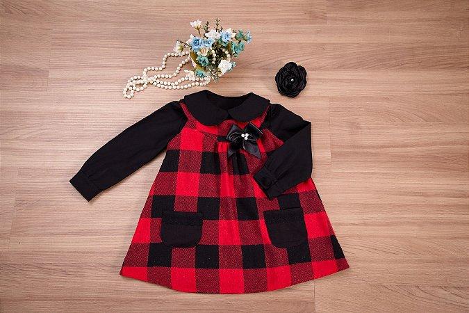 Trapézio Xadrez  Com Camisa- coleção de inverno infantil