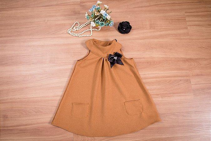 Vestido Trapézio - coleção de inverno infantil