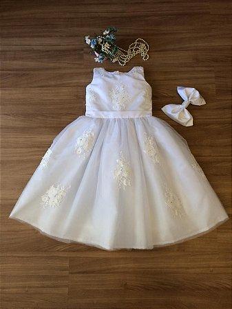 Vestido Daminha Branco-Daminhas de honra