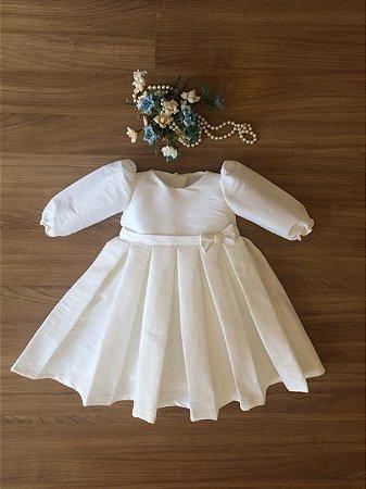 Vestido Para Batizado Manga Longa -Batizado