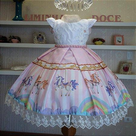 Vestido de Festa Carrossel -Vestidos de temas infantil