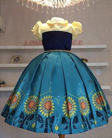 Vestido Festa Frozen - vestidos de festa infantil