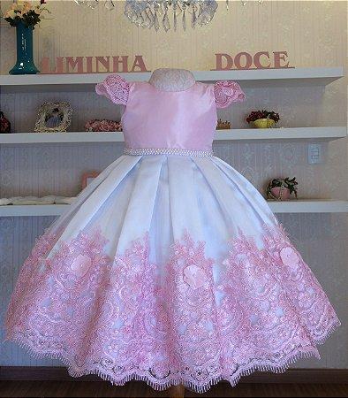 Vestido Rosa para Daminha - daminhas de honra