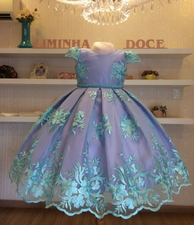 Vestido de Festa Pequena Sereia -vestidos de temas infantil