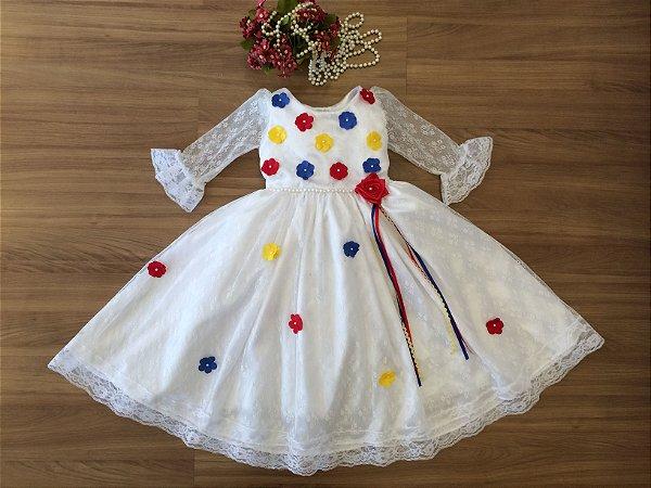 Vestido Caipira para Noivinha - vestidos para festa junina