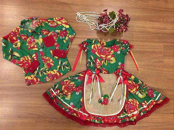 Vestido de Festa Junina e Camisa Infantil - vestidos para festa junina