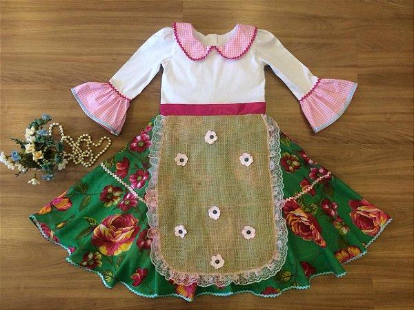 Vestido Floral Festa Junina-vestidos para festa junina