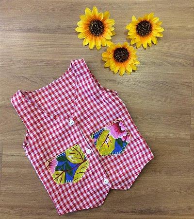 Colete Para Menino Xadrez -vestidos para festa junina