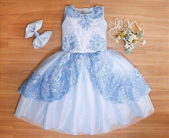 Vestido de Formatura Azul - VESTIDOS DE FESTA INFANTIL