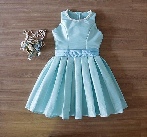 Vestido de Festa  Verde Tiffany- Teen