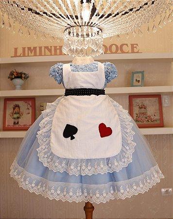 Vestido Alice Pais Das Maravilhas - Vestidos de Temas Infantil