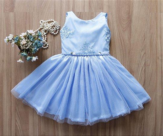 Vestido de Festa Azul Bebe  - PROMOÇÕES