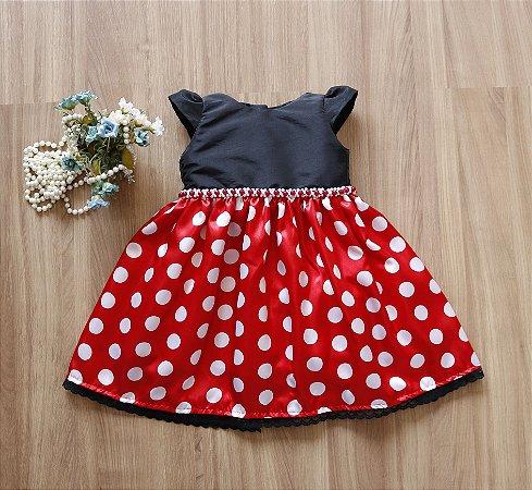 Vestido Minnie - Vestido de festa Infantil
