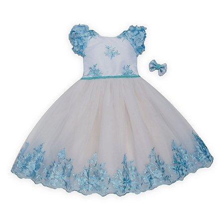 Vestido de festa azul - daminha de honra