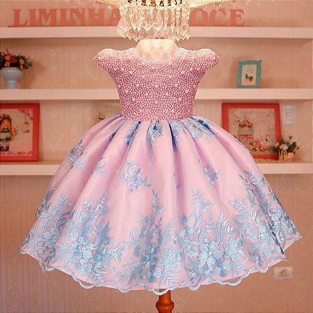 Vestido Luxo Rosa  - Daminha de Honra