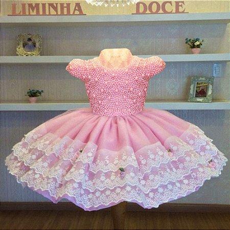 Vestido Bailarina luxo - Vestido de festa