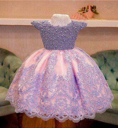 Vestido Formatura lilas  - Infantil
