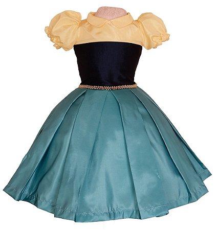 Vestido Ana Frozen - Vestido de Temas Infantil