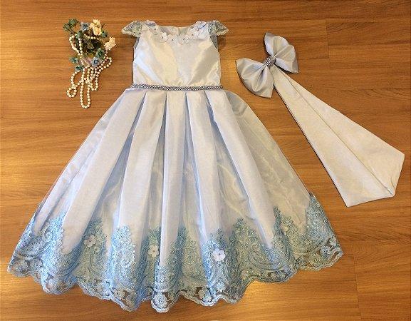 Vestido Vestido Azul   - Vestidos Daminha