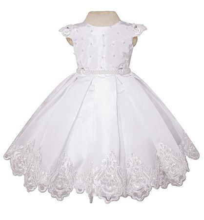 Vestido Festa Branco- Daminha De Honra