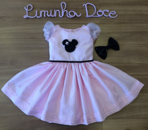 Vestido Minnie Rosa - Vestido Infantil