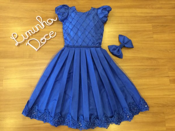 Vestido de festa Azul royal  - Vestido de  Festa
