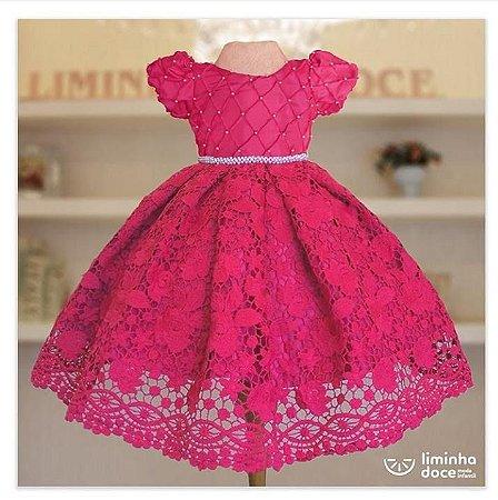 Vestido de Festa Pink Luxo - Vestido de Festa