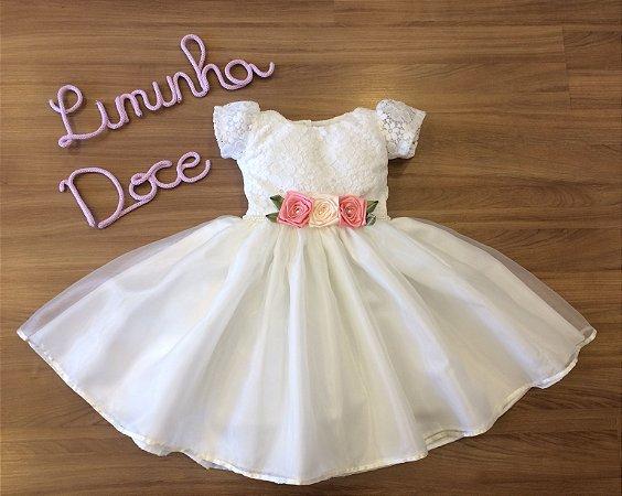 Vestido Daminha Perola - Vestido Dama de Honra