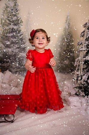 Vestido Infantil Vermelho - Vestido de Festa
