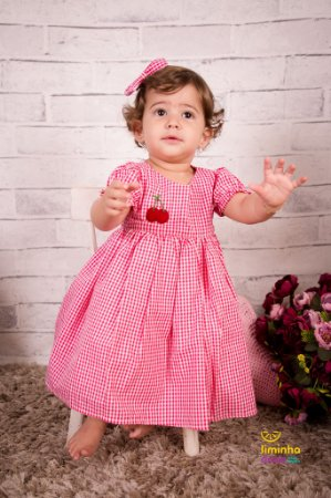 Vestido Xadrez Vermelho - Infantil