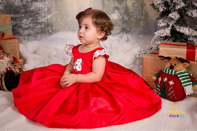 Vestido de Festa Vermelho e Branco - Vestido de Festa