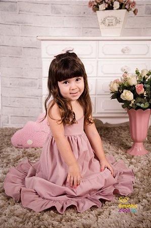 Vestido Rose Longo Infantil
