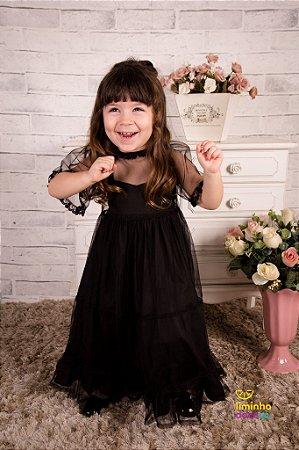 Vestido de Festa Preto Infantil