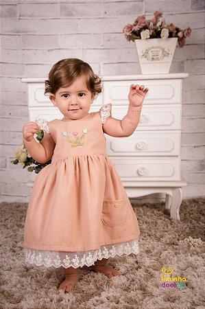 Vestido Infantil de Linho