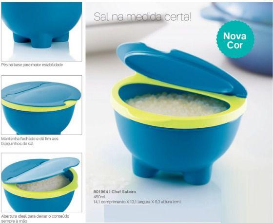 Chef Saleiro Azul 450ml -Tupperware