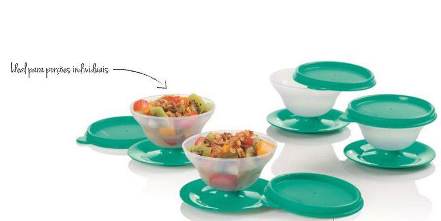 Tacinha Para Sobremesa Verde 130ml Kit 4 Peças - Tupperware