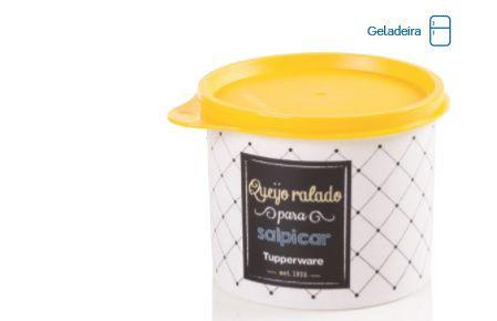 Tupper Redondinha Queijo Ralado Bistrô 500ml - Tupperware