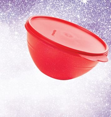 Tigela Maravilhosa Vermelho Glitter 1 Litro - Tupperware