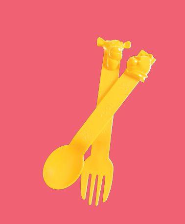 Talheres Pooh e Tigrão Amarelo - Tupperware