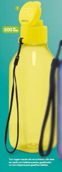 Eco Tupper Garrafa Quadrada Plus Amarelo 500ml - Tupperware