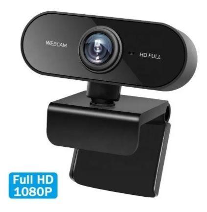 Webcam USB Full Hd 1080p  Com Microfone Embutido