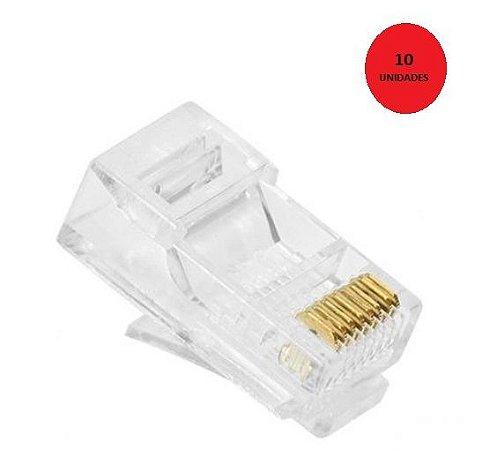 Kit 10 Conectores Plug RJ45