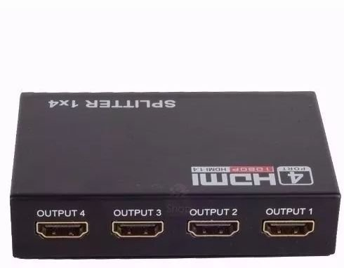 Splitter HDMI 1X4 | Full HD, 1.4, 3D, 1080p | 1 Entrada 4 Saídas