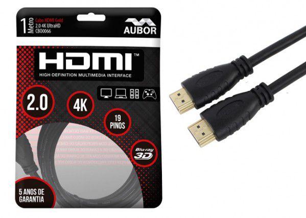 Cabos HDMI 2.0 - 4K, Ultra HD, 3D, 19 Pinos - 1 metro aubor