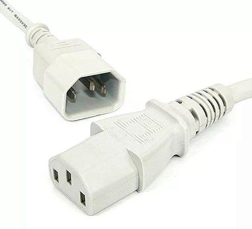 Extensão cabo de força branco- computadores, monitores, fontes -tripolar-10 Amperes