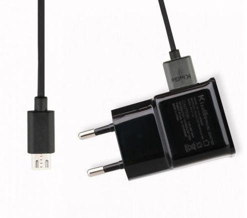 Kit Carregador De Tomada 2 Amperes + cabo Micro v8-USB - kingo